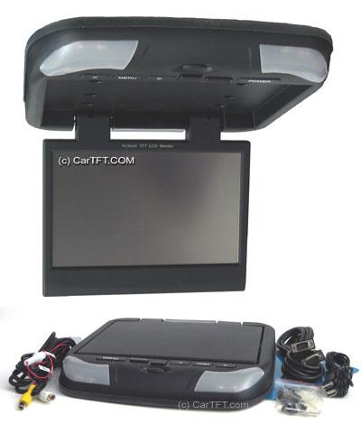 "RM1020 -- 10.2"" TFT VGA Touchscreen USB + PAL/NTSC Roof mount display"