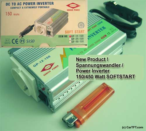 Power Inverter 150/450 Watts (Soft-Start)