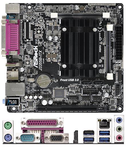 ASRock J3355B-ITX (Intel Celeron J3355 2x2.0Ghz, 1x LPT) [<b>FANLESS</b>]