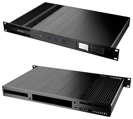 Akasa Galileo TU1 Thin-ITX 1U Rackmount enclosure (A-ITX27-A1B)