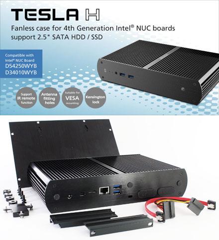 Akasa Tesla H Enclosure For Intel Nuc D34010wyb D54250wyb