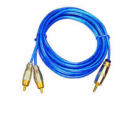 High-Quality Audio cable 3,5mm Stereo to 2-Cinch , Length 3m