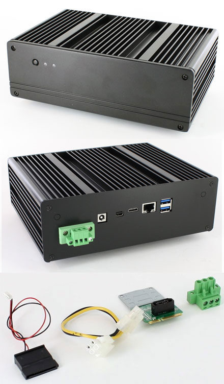 blackpete nuc v2 barebone with intel d54250wyb core i5 4250u cpu fanless new intel. Black Bedroom Furniture Sets. Home Design Ideas