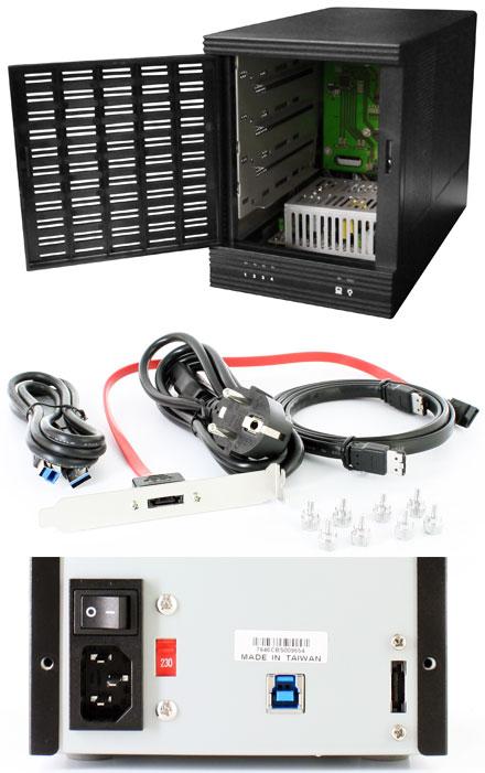 """CFI A7846CM USB 3.0 / eSATA 6G enclosure (4x 3.5"""", Hot-Plug, 150W)"""