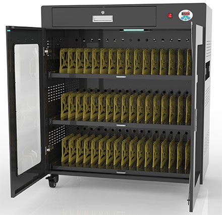 CHARGE50 Classroom (50 devices multi charging cabinet, Lockable, UV disinfection)