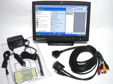 "CTF1020<b>-S</b> - VGA 10.2"" TFT - Touchscreen USB - Video -  Autodimmer - Audio (<b>LED, 1000nits</b>)"