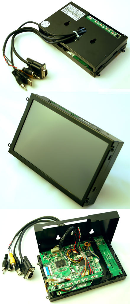 "CTF700-<b>HM</b> - VGA 7"" TFT - Touchscreen USB - <b>OPEN-FRAME</b> (<b>800nits , TMR-Technology</b>)"