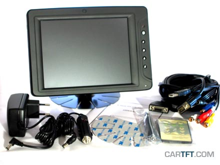 """CTF846-<b>A</b> - VGA 8"""" TFT - Touchscreen USB - Video -  Audio [<b>LED-Backlight</b>]"""