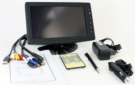 "CTFHD800<b>-SL</b> - HDMI 8"" TFT - Touchscreen USB - PAL/NTSC - Autodimmer - IR Remote - Audio  <b>(1024x600, 500 nits) [LED]</b> <b>-TRANSFLECTIVE PRO-</b>"