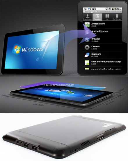 "CTFPAD-2 (10.1"" Multi-Touchscreen, Intel Atom Z670 1.5Ghz, 2GB RAM, 32GB SSD, HSPA/UMTS, WLAN, GPS) [without OS] *new*"