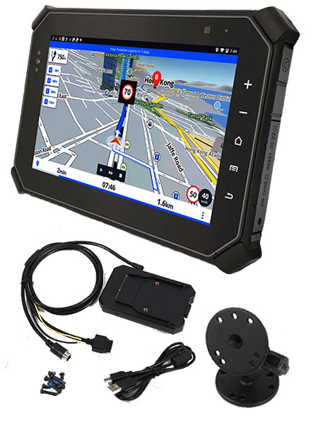 """CTFPND-11 (8"""" Android TabletPC/PND, Ruggedized, 2.0Ghz Octacore CPU/2GB RAM, GPS/WLAN/BT/LTE, RFID (NFC), TTL/RS232, Video-In, RJ45-LAN)"""