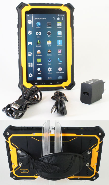 "CTFPND-8B (7"" Android TabletPC/PND, Waterproof IP67, Ruggedized, 1.7Ghz Octa CPU/2GB RAM, GPS/WLAN/BT/3G)"