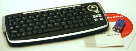 CTFWIKE-2 Wireless Funk-Tastatur mit Trackball (10m Reichweite) [UK-Layout] *Kompakt* SPECIAL