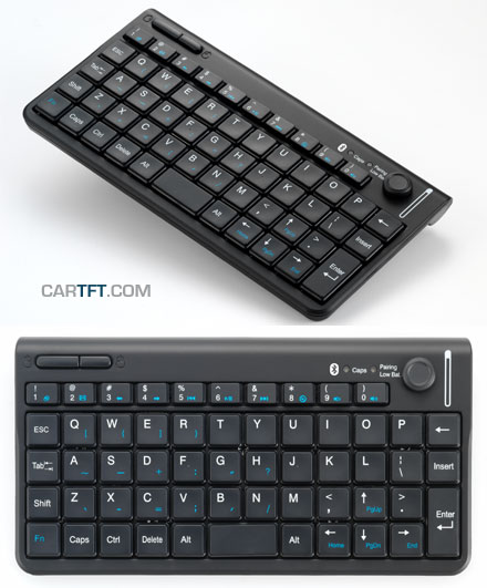 CTFWIKE-3 Wireless BLUETOOTH-keyboard with Mouse-stick (10m range) [DE-Layout]