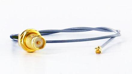 Pigtail Kabel UFL U.FL RP-SMA RSMA (25cm, für Mini-PCI WLAN,3G,GPS)