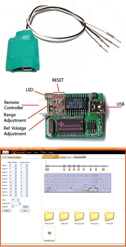 CarPC JoyCon (Steering wheel remote controller interface)