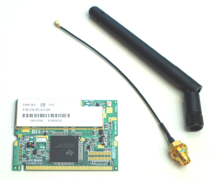 Wireless LAN Mini-PCI (mit Antenne)