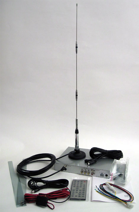 DVB-T DUAL TV-Tuner (Standalone, with car aearials)