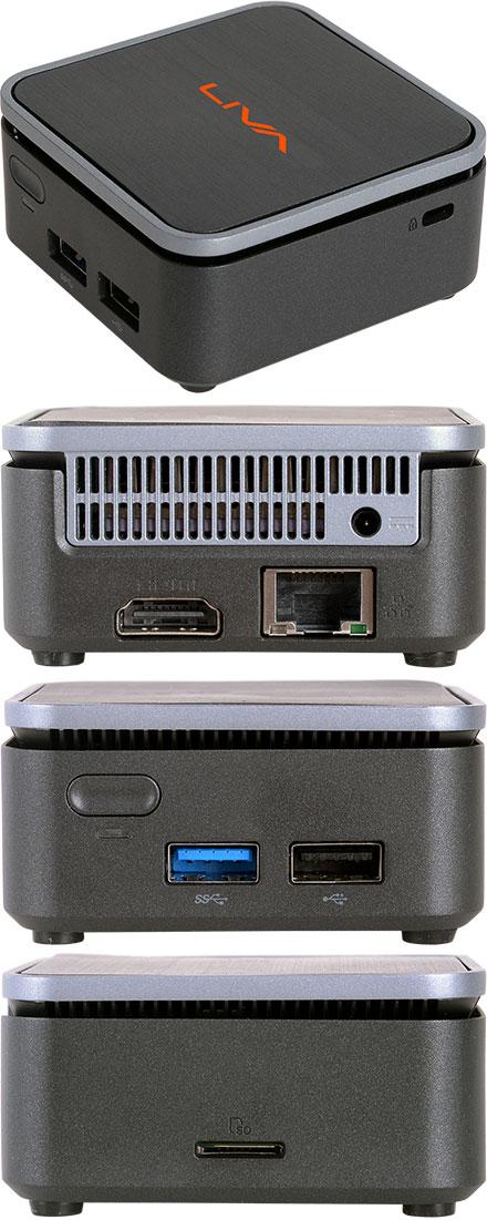ECS LIVA Q2 MiniPC (Intel Celeron N4000, 4GB RAM, 64GB eMMC, Windows 10 Home)