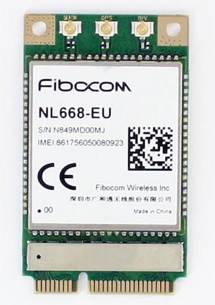 Fibocom NL668-EU Mini-PCIe Modem (4G/LTE 150/50 Mbit)