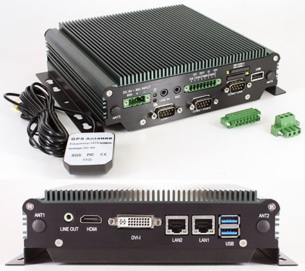 FleetPC-4-E Car-PC (Intel Apollo Lake N3940 4x1.8Ghz, 4GB RAM, Autostart-Controller, 9-36V Automotive PSU, GPS) [<b>FANLESS</b>]