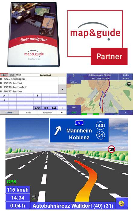 PTV FleetNavigator 10.5 (Germany/Austria/Switzerland (DACH), Speech, TMC) [PDA/PC]