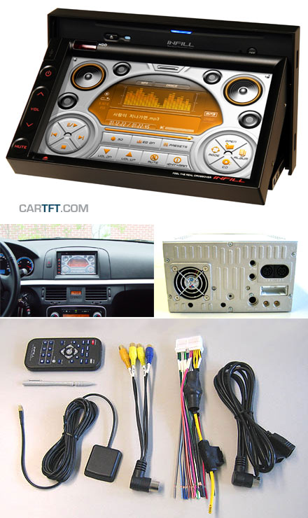 Infill G4 Double-DIN Car-PC Barebone (1.5Ghz, FM radio, Amplifier, GPS)