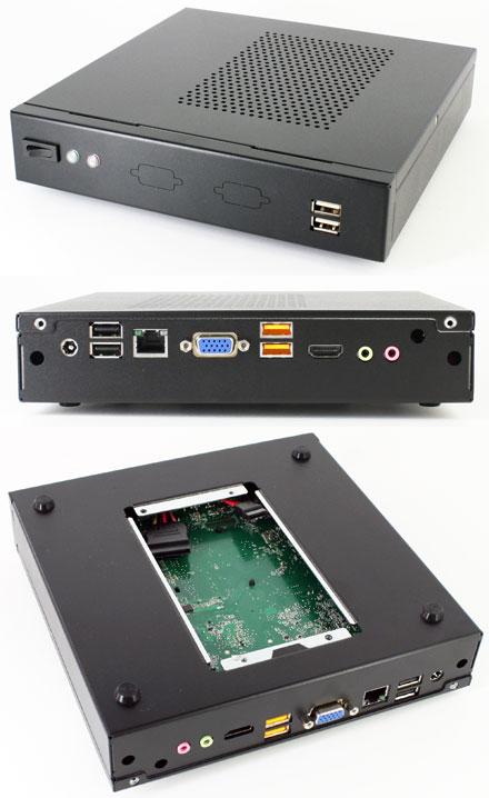 MiniPC HAHE-DN-C Enclosure (for Intel DN2800MT/Mitac PD10BI/PD10RI Half-Height ITX)