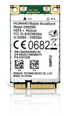 HSPA / UMTS / EDGE Mini-PCIe Modem + GPS (Huawei EM820W)