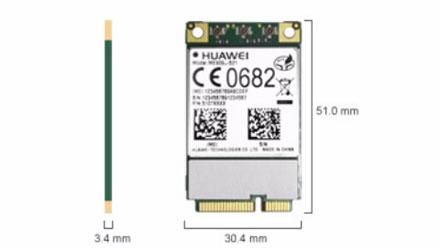 HSPA / UMTS / EDGE / LTE 4G Mini-PCIe Modem (Huawei ME909u-521)