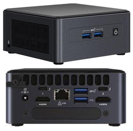 """Intel NUC11TNHi5 (Intel Core i5-1135G7 up to 4,20GHz, 1x HDMI, 1x Mini DP, 2x Thunderbolt, <b>2,5"""" SATA SSD</b> Support)"""