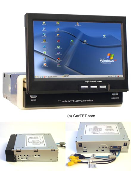 "K301 - 7"" InDash VGA Touchscreen USB - fully motorized (not available until 02.02.2007)"