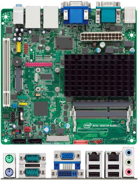 Intel D2500CC-E (Intel Atom 2x 1.86Ghz CPU, 2x LAN, 4x RS232) [<b>FANLESS</b>] (Remnant)