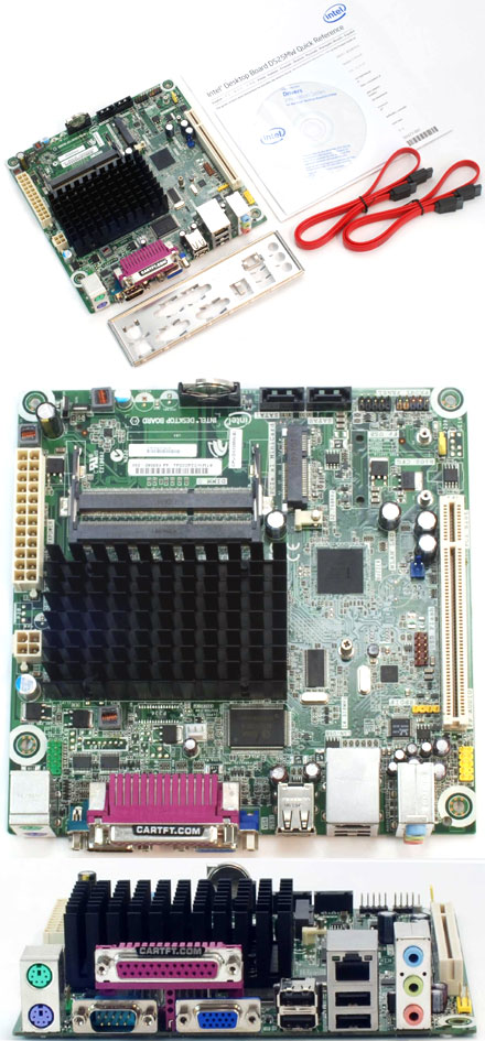 Intel D525MW (with integrated Atom 2x 1.8Ghz CPU) [<b>FANLESS</b>]