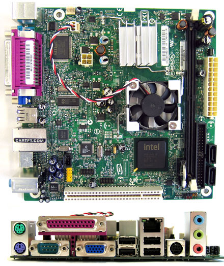 Intel D945GCLF<b>2</b> (with integrated Atom 2x 1.6Ghz CPU, <b>TV-Out</b>)