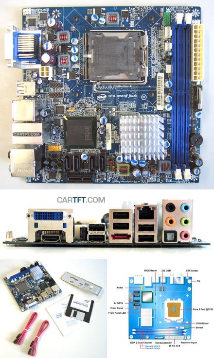 Intel DG45FC (for Core2Duo FSB1333 [Socket 775], HDMI, DVI) (Remnant)