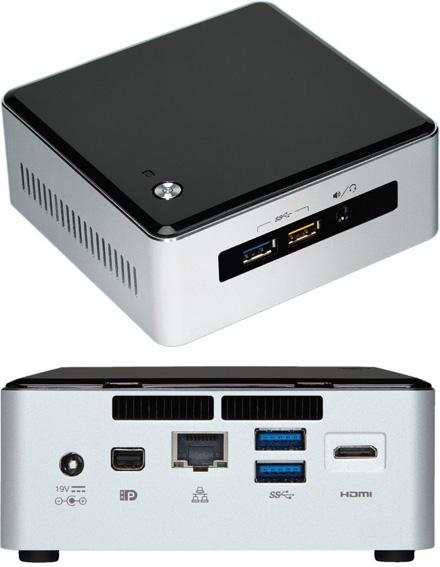 """Barebone Intel NUC5i7RYH (Intel Core i7-5557U 2x 3.1Ghz, 1x HDMI, 1x dP, 1x M.2, 2.5"""" HDD/SSD)"""