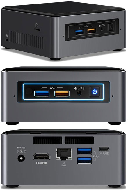 "Intel NUC7i3BNH (Intel Core i3-7100U CPU 2x 2.4Ghz, 1x HDMI, 1x dP, 1x M.2, 2.5"" HDD/SSD support)"