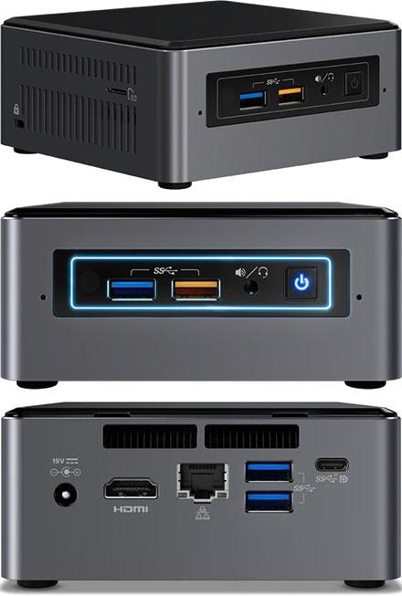 "Intel NUC7i5BNH (Intel Core i5-7260U CPU 2x 2.2Ghz, 1x HDMI, 1x dP, 1x M.2, 2.5"" HDD/SSD support)"