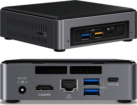 Intel NUC7I5BNK (Intel Core i5-7260U CPU 2x 2.2Ghz, 1x HDMI, 1x dP, 1x M.2)