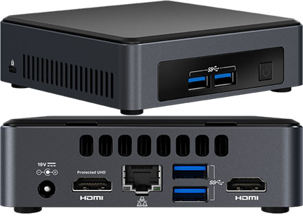 Intel NUC7I3DNKE (Intel Core i3-7100U 2x 2 40GHz, 2x HDMI, 2x M 2)