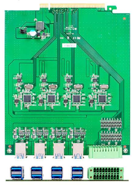Jetway ADD-ON HM1-USB3.0X8 (8x USB3.0, 1x GPIO) [für HM-1000]