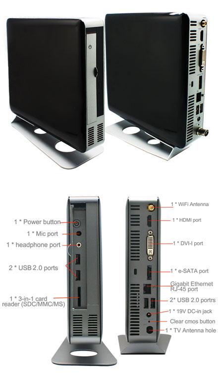 Jetway JBC700C9JG-H61-BW (Intel H61 chipset)