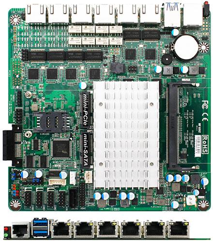 Jetway JNF692G6-420 (Intel Apollo Lake, 6x LAN)