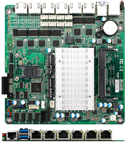 Jetway JNF692G6-420B1 (Intel Apollo Lake, 6x LAN with 2x Bypass)