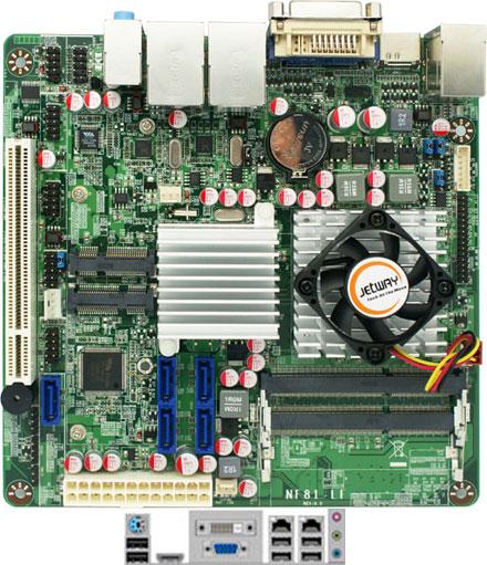 Jetway NF81-T56N-LF (AMD Brazos Zacate T56N 2x 1.6Ghz, DirectX 11, 2x LAN) *new*