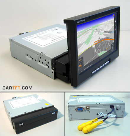 "K90 - 7"" InDash VGA Touchscreen USB - fully motorized (not longer available !)"