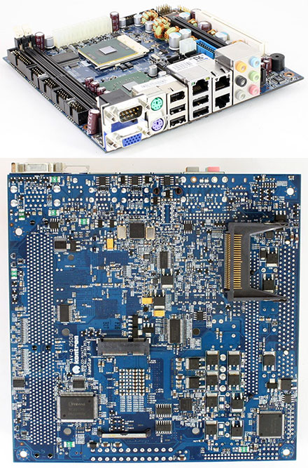 KONTRON 986LCD-M/mITX (for Core Duo/Core Single) [with CF-slot, without TV-Out, with PCI-E] *Remnant with Intel L2400 CPU* (without I/O shield, without heatsink) [<b>RECERTIFIED, 1 yr. warranty</b>]