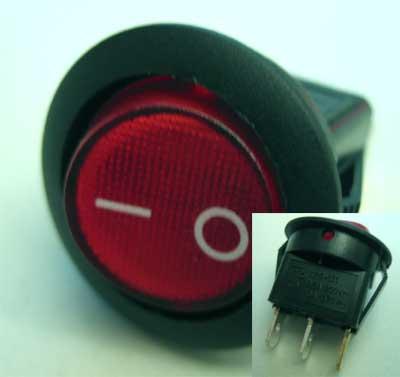 Lighted switch (round)