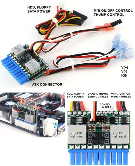Mini-Box M3-ATX 6-24V DC/DC (125Watt) .